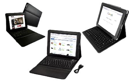 Pořiďte si pro váš tablet stylové pouzdro z imitované kůže s integrovaným stojánkem a klávesnicí bluetooth. Vaše práce tak bude pohodlnější a navíc tablet ochráníte od poškrábání.