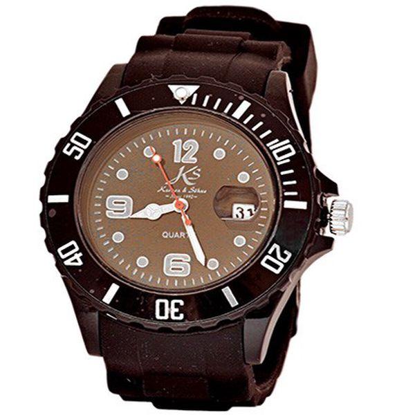 Unisex silikonové hodinky Kronen & Söhne černé