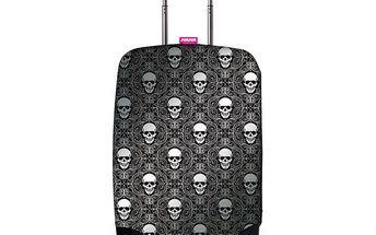 SuitSuit Obal na kufr 9071 Silver Skulls - obal na kufry smotivem stříbrných lebek.