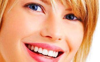 Bělení zubů bez peroxidu se sérem na doma s 83% slevou.