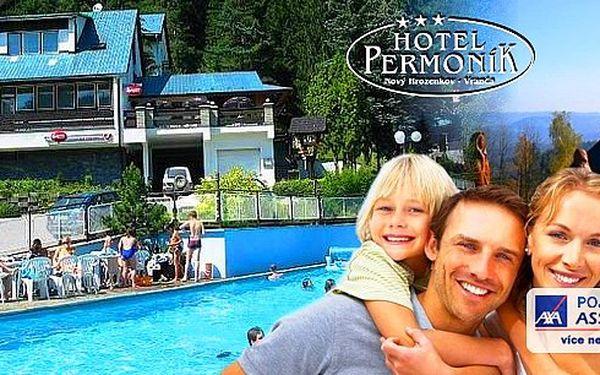 Vyražte na dovolenou do Beskyd! 3, 4 nebo 6 dní s polopenzí pro 2 osoby v hotelu Permoník! V ceně welcome drink, vstup do vyhřívaného bazénu, neomezené využití kuželkové dráhy a další bonusy.