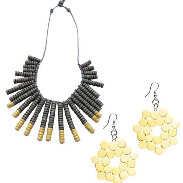 Dvoudílný set náhrdelníku Ethalem a náušnic Gia