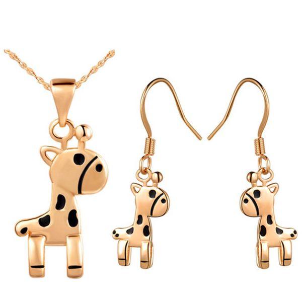 Set originálních šperků ve tvaru žirafy - náhrdelník a náušnice a poštovné ZDARMA! - 216