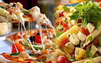 2x pizza nebo 2x těstoviny v oblíbené Špindlerovské restauraci The Rustical jen za 99 Kč. Vyberte si z mnoha druhů pizzy!