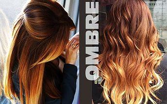 Novinka! Barvení vlasů metodou Ombre, střih a regenerace!
