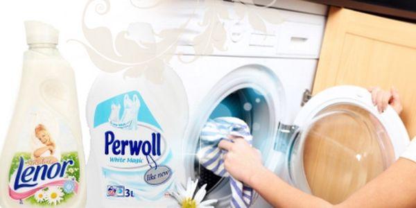 Cenová bomba! PERWOL WHITE MAGIC 3L a LENOR SENSITIVE 2L dohromady za báječných 284 Kč, se super slevou 30%! Aby Vaše prádlo bylo zářivě bílé a voňavé!