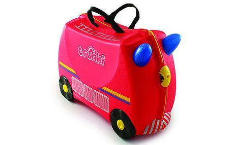 Dětský kufřík a odrážedlo - hasičský vůz