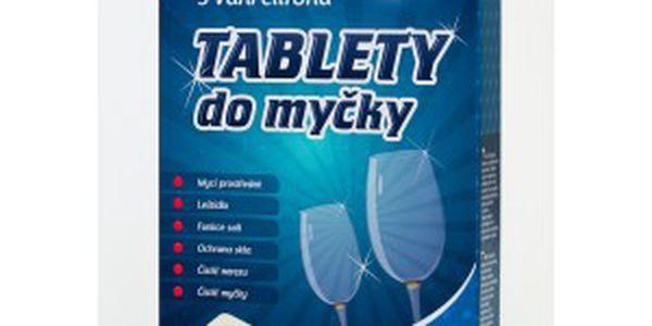 100 tablet do myčky 6v1 - pro křišťálový lesk a čistotu veškerého nádobí!