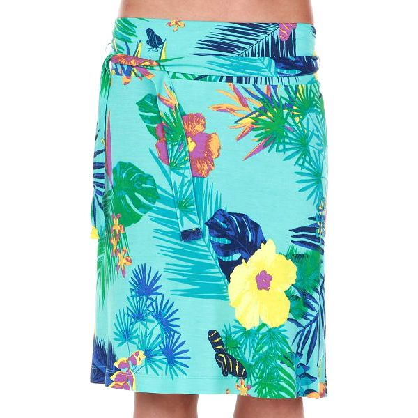 Dámská sukně srozkvetlým motivem od značky s.Oliver 8035_61A2, tyrkysová