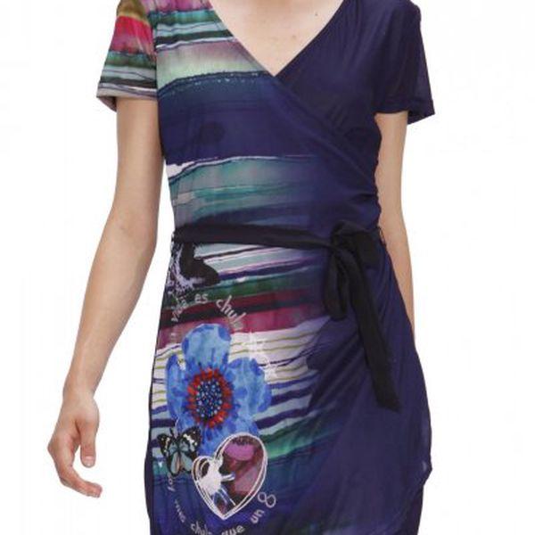Dámské zavinovací šaty Desigual Lina_31V2895, tmavě modrá