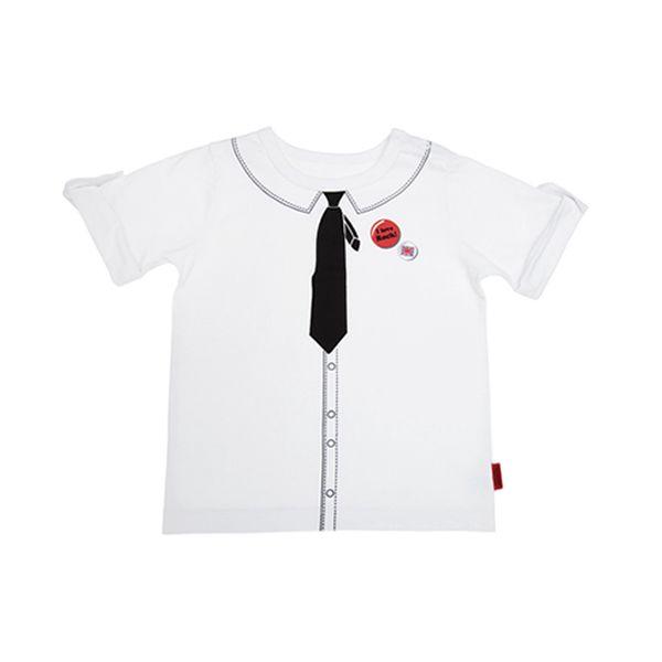 Bílé tričko s imitací kravaty