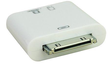 Čtečka SD/MMC/microSD karet pro iPad 1/2 a nový iPad do Apple konektoru a poštovné ZDARMA! - 220