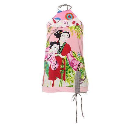 Dámský růžový top Savage Culture s gejšami