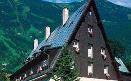 Nabitý RELAXAČNÍ POBYT v KRKONOŠÍCH. Komfortní 4denní ubytování pro 2 nebo celou rodinu + polopenze v hotelu Starý mlýn v Rokytnici nad Jizerou