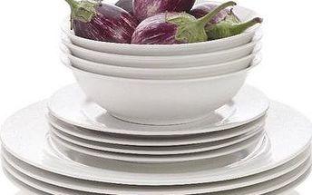 Porcelánová jídelní souprava White Basics 12 ks Maxwell & Williams