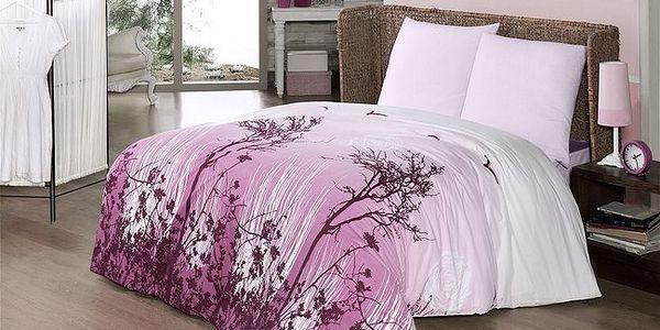 Bavlněné povlečení Yakamoz V2 růžová, 70 x 90, 140 x 200 cm Vesna