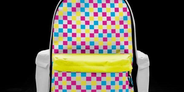 Batoh Principal Multicheck White - polstrované popruhy, plně rozepínatelná kapsa (snazší čištění batohu)