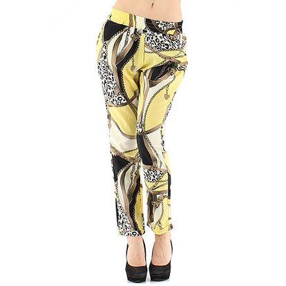 Žluté dlouhé kalhoty