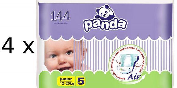 Plenky Panda Junior 4 x 36 ks určené pro děti od 12–25 kg.