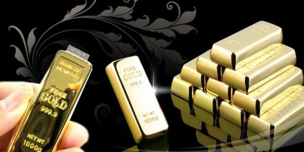 Originální USB flash disk 4GB v podobě zlaté cihličky za neodolatelných 199 Kč! Kvalitní kovové tělo v sobě ukrývá 4GB paměti! Data neustále při ruce, se slevou 72%!