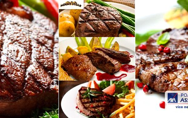 Mount Steakvám přináší: vychutnejte si netradiční masíčko ve dvou - na výběr ze 3 rozmanitých variant!Mount Steak to je ráj všech gurmánů!