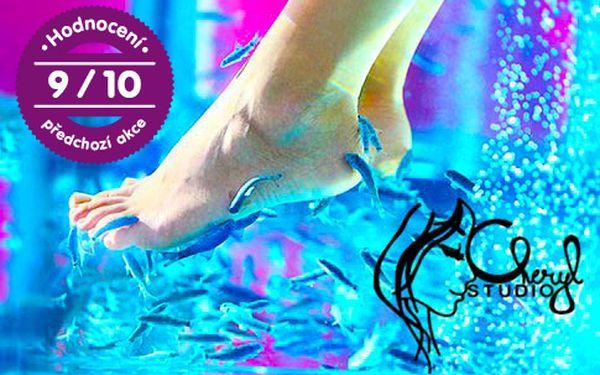 Koupel nohou pro dva s rybkami Garra Rufa