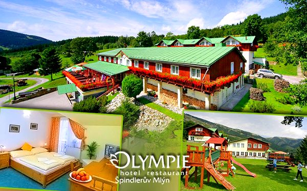 3 nebo 4 dny pro 2 s polopenzí a parádním wellness v hotelu Olympie