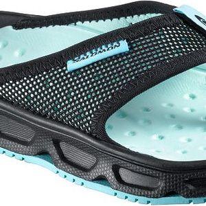 Velmi lehké dámské sandály Salomon RX Break W Black/Aqua Tint 4,0 (36,7)
