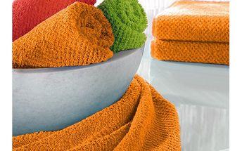 Ručník s.Oliver oranžový, 50x100 cm - kvalitní a mladistvý design