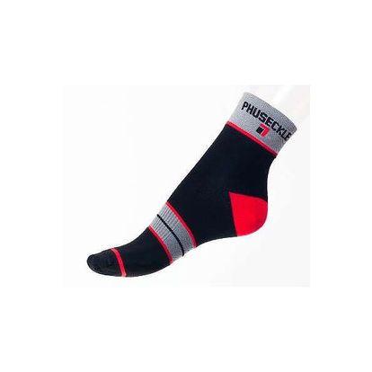 Pánské ponožky PHUSECKLE černo/červené