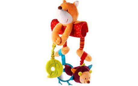 Závěsná hračka s aktivitami Victor. Se zavěšeným chrastítkem, šusticím listkem abezpečným zrcátkem