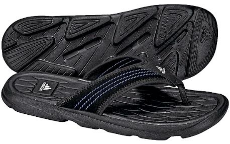 Pohodlné pánské odlehčené žabky Adidas Raggmo Thong SC Black/Lead/White 12