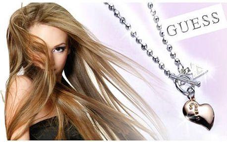 Náhrdelník Guess ve tvaru pozlaceného srdce i s řetízkem!