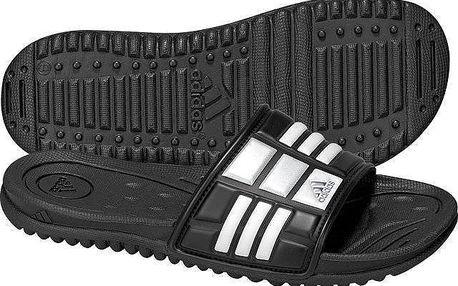 Měkké a lehké pánské sportovní pantofle Adidas Mungo QD Black/White/Metallic silver 12