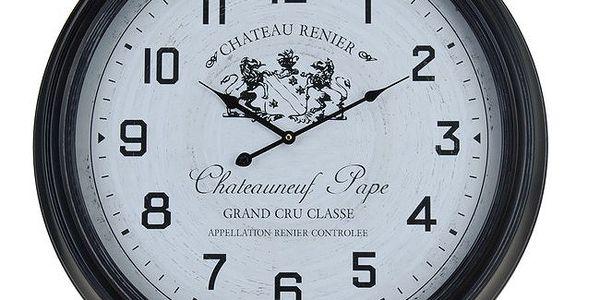 Kovové nástěnné hodiny s fancouzským designem Chateau Renier 65 cm