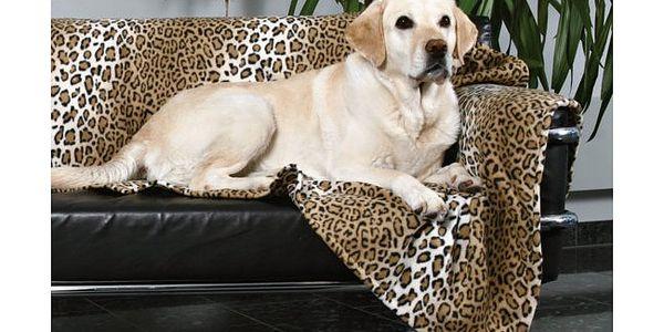 Fleecová deka leopard TRIXIE 100 x 70 cm