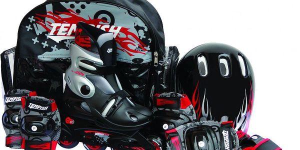 Kompletní sada pro mladého začínajícího bruslaře Tempish Baby Skate Set Boy Black XS (26 - 29) - II. jakost