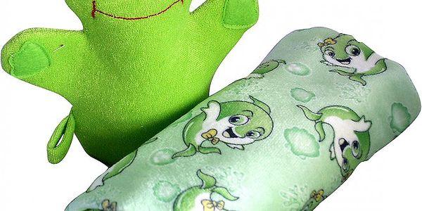 Extra savý dětský ručník z mikrovlákna + žínka ve tvaru zvířátka zdarma