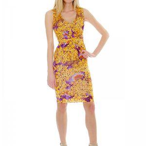 Letní dámské šaty Roberto Cavalli Vestito Jersey_37377, žlutá