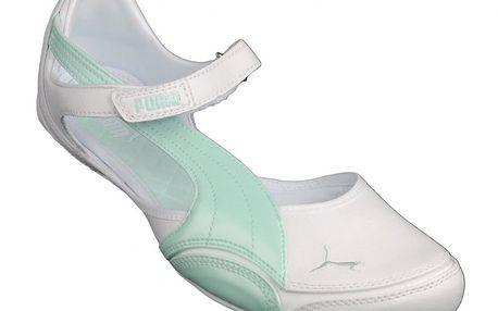Dívčí sportovní baleríny Puma Speed Princess B. PL White-Bay