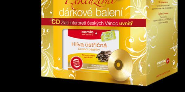 Cemio Hlíva ústřičná EXTRAKT 60+30 ZDARMA cucacích pastilek + CD