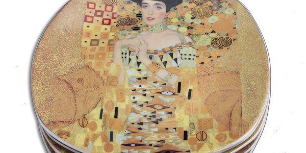 Gustav Klimt - sada 6 dezertních talířků Adele. Inspirováno dílem velkého secesního umělce.