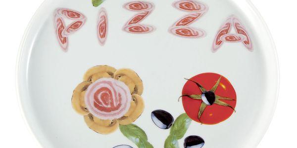 Vtipný porcelánový talíř Pizza II Brandani