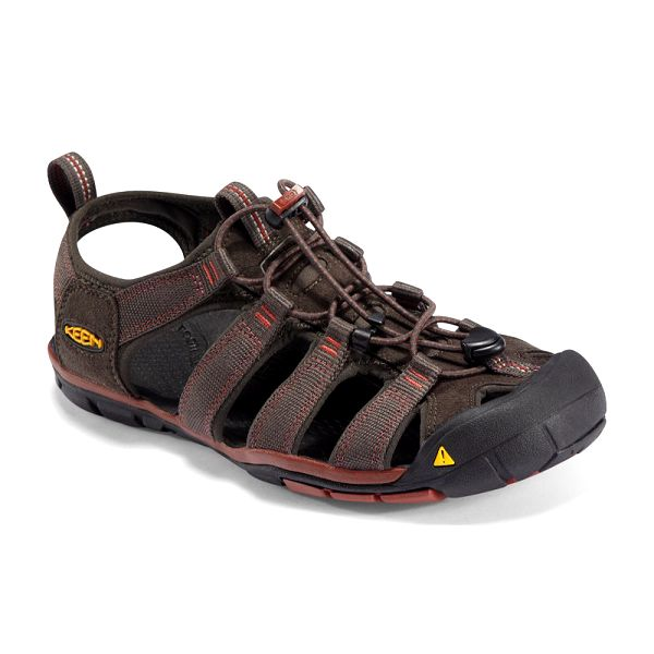 Hybridní lehounké sandály KEEN Clearwater CNX M Raven/Burnt Henna
