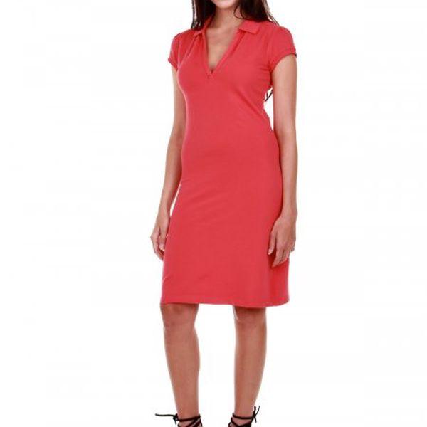 Jednoduché dámské šaty Gant 405804_638 červená