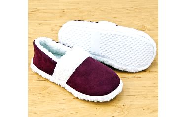 Pantofle beránek, červená 38-40