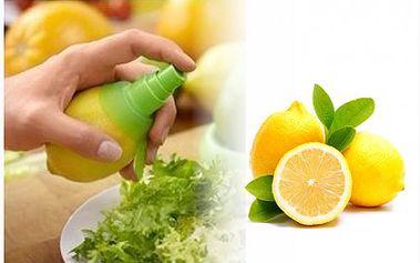 Báječných 79 Kč za praktického pomocníka při vařeni, pečení či míchání koktejlů. Citrus spray je rozprašovač, který lze nasadit na citrusy a můžete si užívat 100% přírodní šťávy s vitamíny.