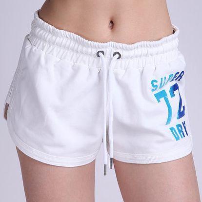 Bílé dámské kraťasy Superdry Jumpsuit_PKA, bílá