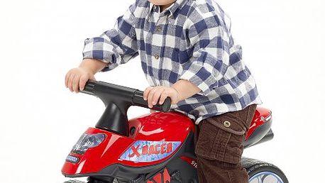 Plastové odrážedlo - motorka červená - II. jakost