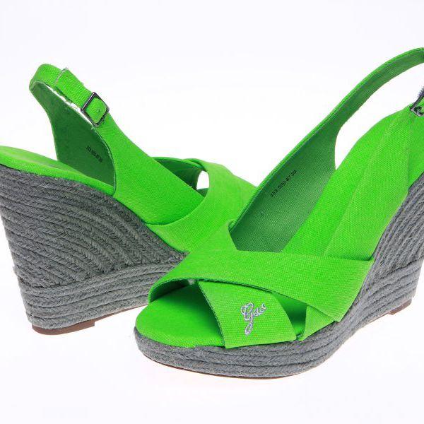 Moderní dámské sandály GAS Violet_87, zelená